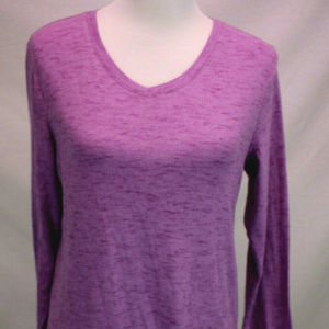 Eddie Bauer Womens L Long Sleeve V Neck Top